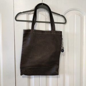 Shopper tote bag brown leather